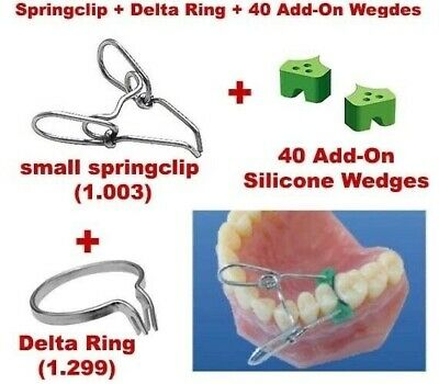 Springclip + Delta Ring + 40 Elastic Wedges Sectional Contoured Matrices Matrix