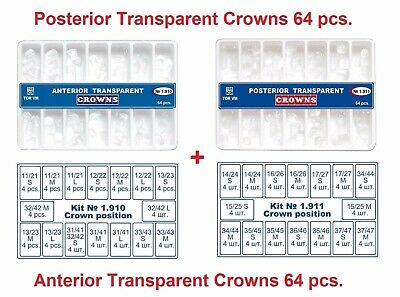 2x 64pc Dental Anterior Posterior Clear Transparent Strip Crowns Matrices Matrix