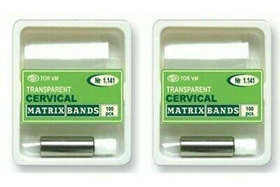 Lot x 2 Dental Strips Crown Transparent Cervical Matrices Matrix TOR VM № 1.141