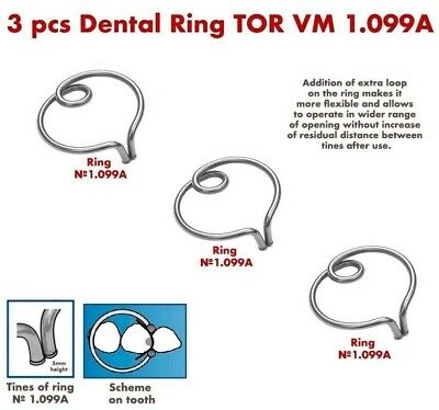 3X Dental Ring for Sectional Metal Matrices Matrix as Palodent TOR VM 1.099A
