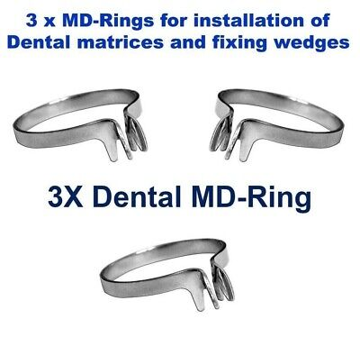 3X Dental Ring MD for Sectional Metal Matrices Matrix as Palodent TOR VM 1.167