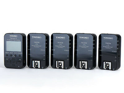Yongnuo TTL Wireless Flash and Speedlight Controller and (4) Transceivers