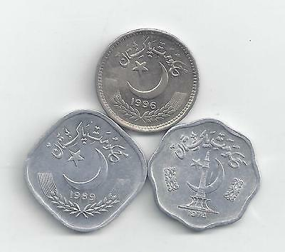 3 DIFFERENT COINS from PAKISTAN (3 DENOMINATIONS)