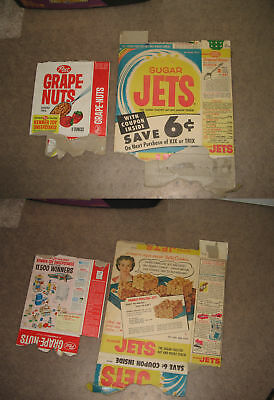 cereal box (on left) POST Grape Nuts 1964 Kenner Easy Bake Oven monorail playset