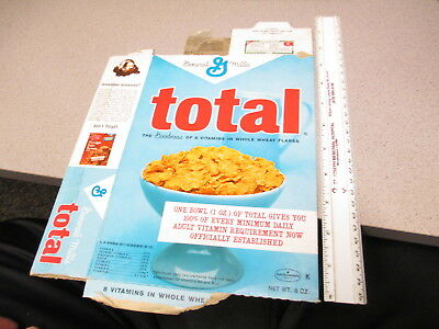 cereal box General Mills 1960s TOTAL breakfast requirements