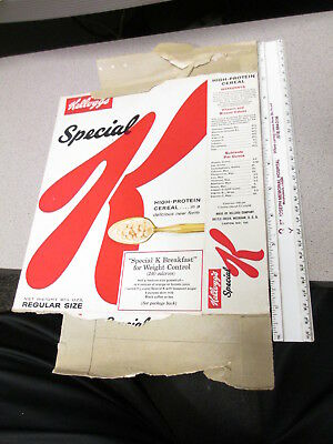 cereal box KELLOGGS 1961 SPECIAL K common sense weight control #1 Regular 6.5 oz