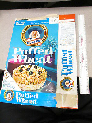cereal box QUAKER 1960s PUFFED WHEAT 14 karat gold pendant pearl necklace