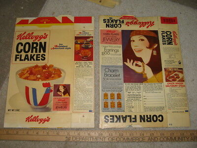 cereal box KELLOGGS 1972 MOD jewelry hippie psychedelic