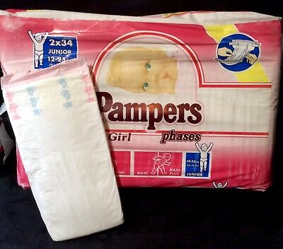Vintage Pampers Phases for Girls Sz Junior XL Europe Import
