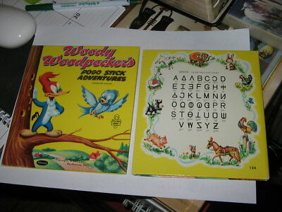 Whitman TELL A TALE Woody Woodpecker UNIFON alphabet Test edition 1954,LGB