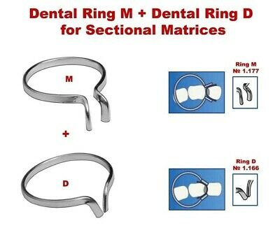 2X Dental Ring M + Ring D for Metal Sectional Matrices Matrix as palodent TOR VM