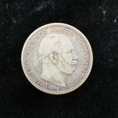 Prussia German States Silver 2 Mark 1876-A