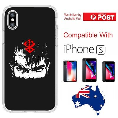 Silicone Cover Case Berserk Guts Half Face Painted Logo Art - Customlads