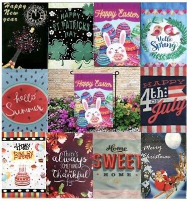 Flag Holiday Garden Seasonal 10 Flags 12 x 18 Mother's Day, Summer, Spring, USA