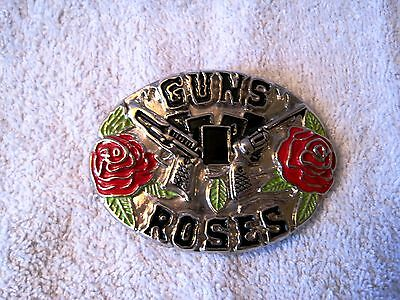 Beautiful - Vintage - Guns 'n' Roses - Silver Belt Buckle - Highly Collectible!!