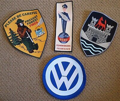 VW Embroidered Patches (Large) Split Oval Bug Ghia