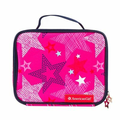 American Girl Little Girl's Lunch Box Tote NWT Stars Pink