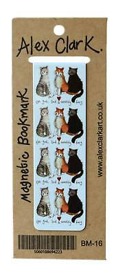 Alex Clark The Good, Bad & Incredibly Furry Cat Magnetic Bookmark / Page Finder