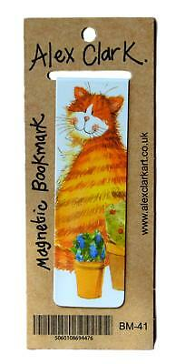 Alex Clark Cats & Pots Cat Magnetic Bookmark / Page Finder / Book Mark