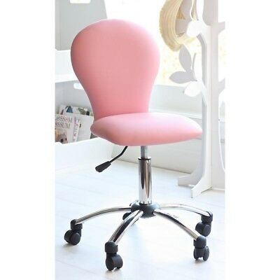 New kids pink computer desk office study bedroom furniture swivel chair