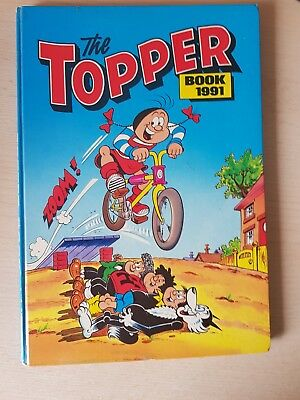 The Topper 1991 Vintage Annual Comic Hardback fine condition see photos plz