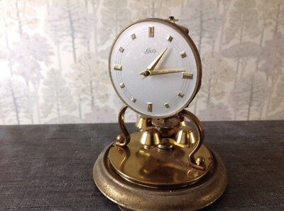 Vintage Shatz 400 Day Anniversary Torsion Clock Fitted Dome 15x12cm For Repair