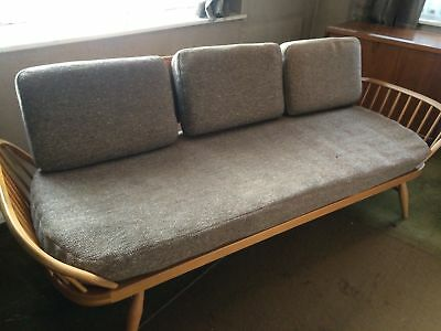 Fantastic blonde wood vintage Ercol studio bed daybed  -sofa- couch