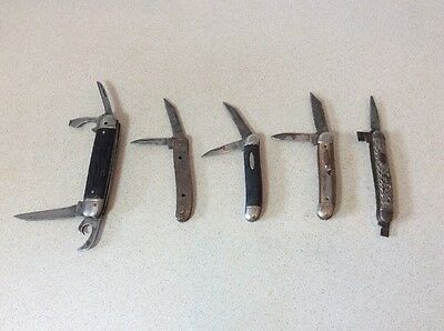 Lot of 5 Vintage  Pocket Knife Knives    Imperial.  Colonial