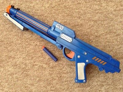 Nerf STAR WARS CLONE TROOPER GUN Rare Blue