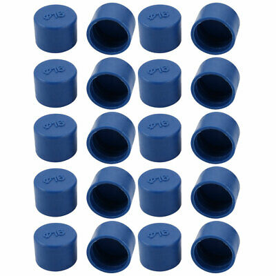 uxcell 8pcs 40mm Inner Dia PE Plastic End Cap Bolt Thread Protector Tube Cover Blue