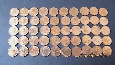 1966 Roll Canadian Penny.  Unc.  More Then 10 Avail.   Estate Find, No Reserve