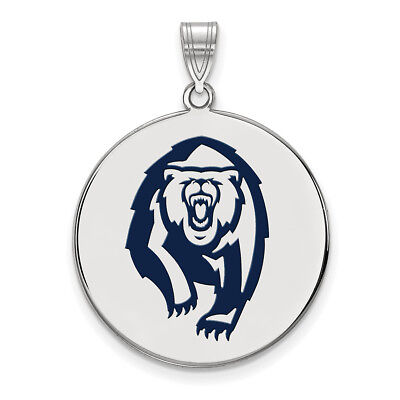 Lex /& Lu LogoArt Sterling Silver w//GP University of California Berkeley Large Enamel Pendant