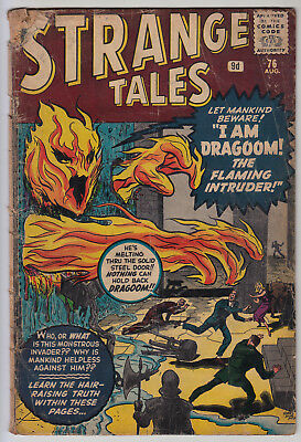 STRANGE TALES #76 GD- Pence  Prototype(ish) Human Torch