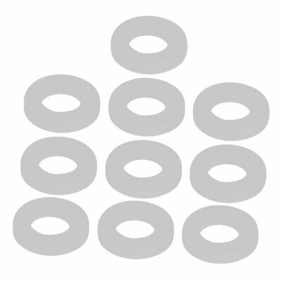 10pcs Clear Silicone Round Flat Washer Assortment Size 10x19x3mm Flat Washer