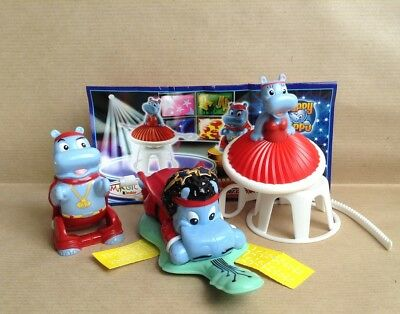 Kinder Surprise Set Hippo Talent Show Maxi Ferrero Figures Cake Toppers + Papers
