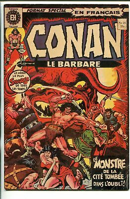 CONAN LE BARBARE #25-1970'S-EDITIONS HERITAGE-DITKO-KIRBY-FRENCH LANGUAGE-vg