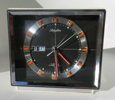 Vintage Rhythm of Japan Calendar & Alarm Clock