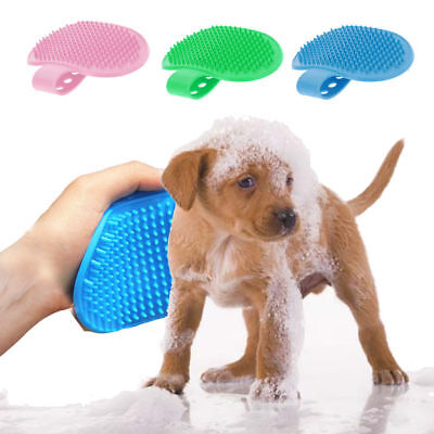 Soft Rubber Dog Bath Brush Comb Cleaning Massage Grooming Glove Cat BrushNunbell