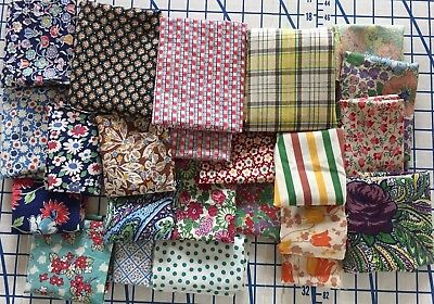 Lot of Vintage/Antique Cotton Fabric Prints Scraps~Quilting, doll clothes
