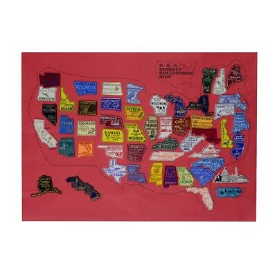 United States All 50 US State Fridge Magnets&Puerto Rico PR Magnet U.S. Map Set