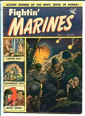 Fightin' Marines #6 1952-St John-Matt Baker-Canteen Kate-VG+