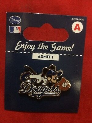 Mickey Mouse Los Angeles Dodgers Disney Pin Diving Catch - New - Factory Package