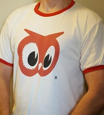Red Owl Grocery Store Ringer T-Shirt - Vintage Logo - Size L - Red Owl Foods