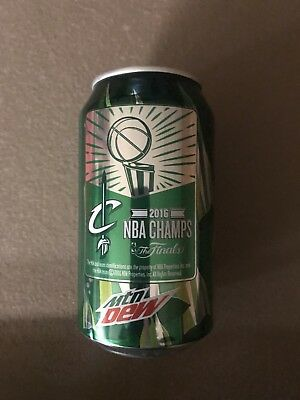 2016 Champion Cleveland Cavs Mountain Dew Can