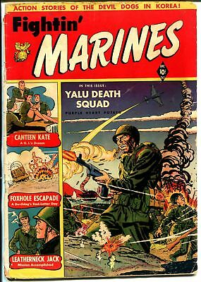 Fightin' Marines #2 1951-St John-1st Canteen Kate-Matt Baker-Korean War-G
