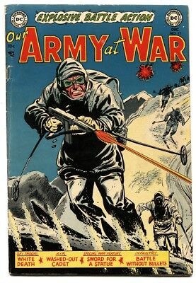 OUR ARMY AT WAR #17 comic book 1953-DC WAR-PRE CODE!-GENE COLAN-VG+