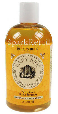 Burt's Bees BABY BEE Organic Tear Free Bubble Bath 350ml 98.9% Natural Bath Foam