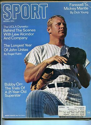 Sport 4/1969-Mickey Mantle-Joe Namath-Bobby Orr-Johnny Unitas-VG