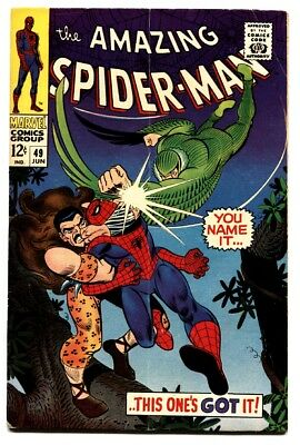 AMAZING SPIDER-MAN #49-comic book KRAVEN-VULTURE-MARVEL SILVER AGE