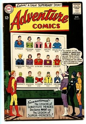 ADVENTURE COMICS #311 comic book-1963-SUPERBOY-LEGION OF SUPER HEROES-DC